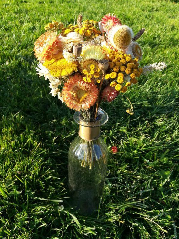 Bouquet de fleurs sèches orange